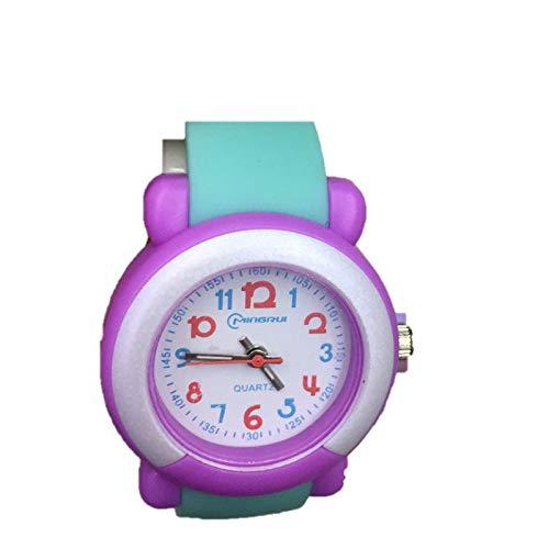 RELOJES Relojes para niños Niños Niños Chicas Deportes Analógico Digital Impermeable LED Luz Azul Naranja Púrpura Relojes de pulsera Adolescente Junior de ...