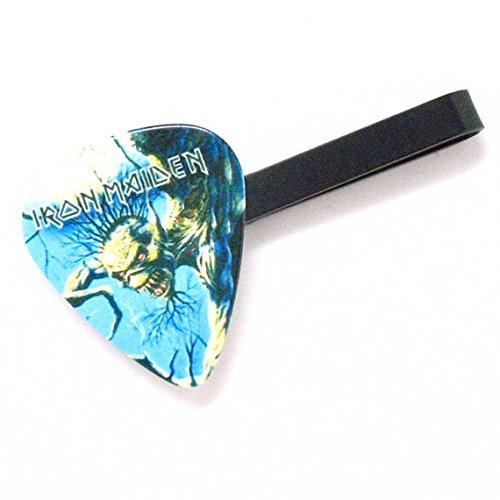 Iron Maiden Tie Bar Clip Black Guitar Pick Sweet Ironmaiden Steel Music Rock Musician Teacher Band Suit Accessories Concert Tie Clip