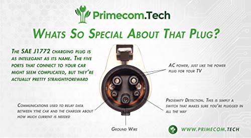 PRIMECOM Level-2 Electric Vehicle EV Charger 220 Volt 30', 35', 40', 50' FEET Lengths (14-30P, 35 Feet) by PRIMECOM (Image #8)