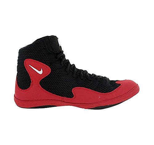 Nike Men's Inflict Wrestling Shoes Black White Game Red US 13.5 M