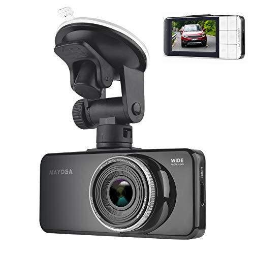 Car Dash Camera, MAYOGA Full HD 1080P Car Camera Dash Cam Video DVR Camcorder Dashboard Driving Recorder with 170° Wide Angle Lens/Night Vision/G-sensor/Parking Monitor/Loop Recording/Motion Detection