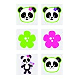 Fun Express Panda Party Tattoos (72 pieces) Temporary Tattoos for Kids, Party Favors and Supplies, Classroom Incentives & Giveaways