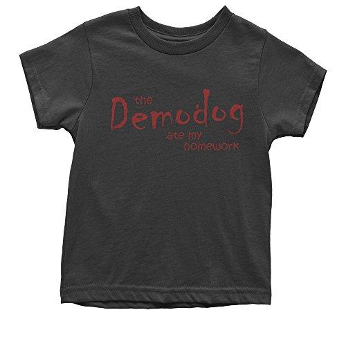 6 Oz No Iron (FerociTees Youth Hawkins Stranger Demodog T-Shirt Large Black)