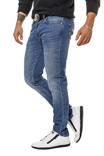 Jack & Jones Herren Slim Fit Jeans Denim Herrenhose (W33 L34, Blue Denim)