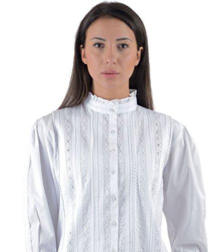 Cotton Lane coton blanc victorienne / edwardian vintage blouse. Tailles Franais 36-62