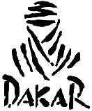 Adhesivo con el logotipo del rally Paris-Dakar para automóvil o bicicleta