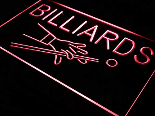 ADVPRO Cartel Luminoso i309-r Billiards Pool Room Table Bar ...