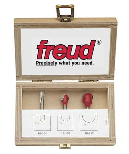 Freud 89-400 3-Piece Round Nose Router Bit Set