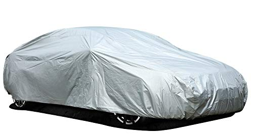 Ohuhu Car Cover for Sedan, Outdoor Sedan Auto Vehicle Cover Windproof Dustproof Scratch Resistant UV Protection Universal Size Car Covers for Sedan L (191''-201'')
