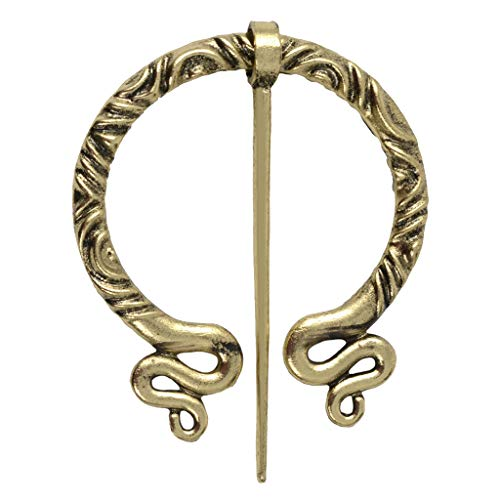 perfektchoice Viking Brooch Vintage Medieval Dress Cloak Pin Clasp Clothes Fasteners Celtic Zinc Alloy Sweater Jewelry - 2.6 x 2.2inch - Antique Copper 3 from perfektchoice