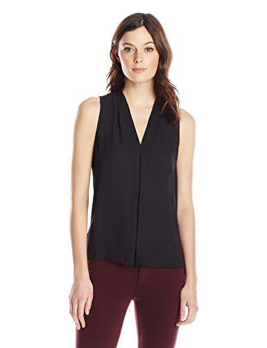 vince-camuto-womens-s-l-v-blouse-with-inverted-front-pleat-rich-black-small