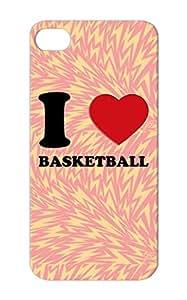 I Love Basketball 3d 2. 2 Basketball Sports Heart Ball Basket Pink Anti-scuff TPU Protective Hard Case For Iphone 5