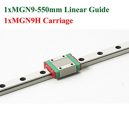 MR9 9mm Mini MGN9 Linear Guide Rail Length 550mm With MGN9H Linear Block Cnc Kossel For Cnc