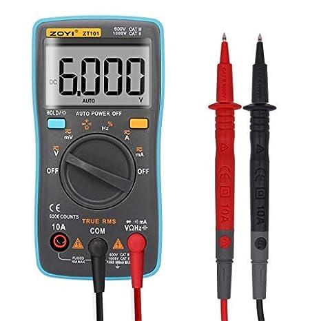 Temperature Neoteck Digital Multimeter TRMS 6000 Counts Manual Ranging AC//DC Voltmeter Ammeter Ohmmeter with NCV Backlit LCD,Capacitance Live Line Tester
