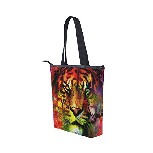 Space Womens Tote Handbag Bag Tiger Canvas MyDaily Galaxy Shoulder gOIwq1nv
