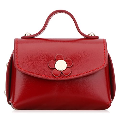 WWW Superior Cowhide Leather Business Card Holder Business Card Case with Cute Flower for Women Girl's Lovely Gifts Wine - Holder Card Business Flower
