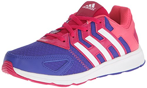 adidas Performance AZ Faito K Running Shoe (Little Kid/Big Kid), Purple/White/Pink, 11 M US Little Kid