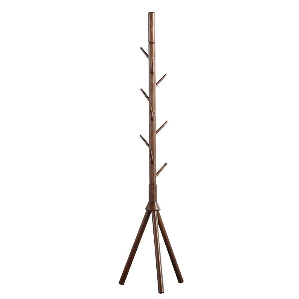 Amazon.com: Meiduo - Perchero de madera maciza con soporte ...