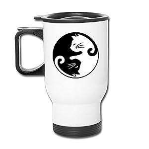 XianNonG Yin Yang Cats Coffee Mug Travel Blank Mug