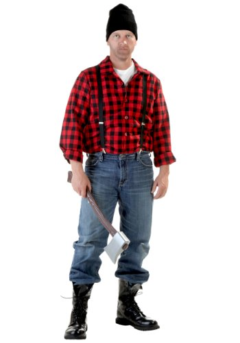 Adult Lumberjack Costume Standard Red -