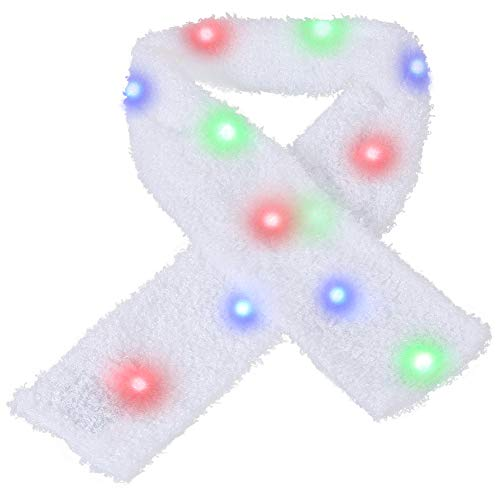 Hproy LED Scarf Light Up Scarf Flashing Rave Light Scarf for Birthday Halloween Christmas Party (LED Scarf)