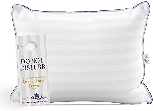 Queen Anne The Original Pillow - Famous 100% European White Goose and Duck Down Blend - Cruelty Free...