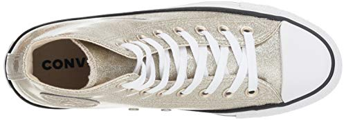 Synthetic Light Mujer White Hi Converse Ctas Entrenadores Gold 48Ftxqawq