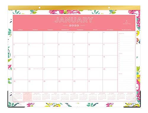Day Designer for Blue Sky 2020 Monthly Desk Pad Calendar, 3-Hole Punched, 22