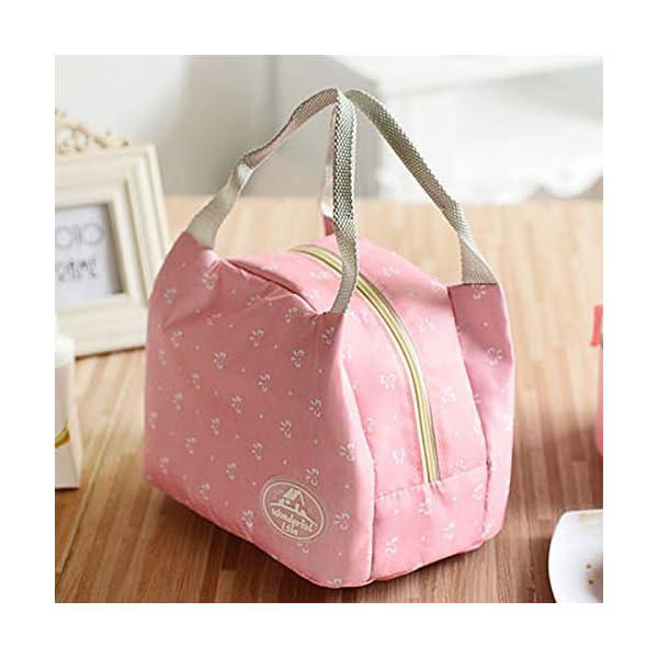 fablcrew Borsa a pranzo portatile borsa pasto Lunch Bag termica termico isolato per Ecole Ufficio Viaggio Picnic 7 spesavip