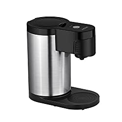 Aicok Single Serve Coffee Maker K Cup Brewer Stainless Steel Easy To Wash And Travel/ Stylish Black by Aicok