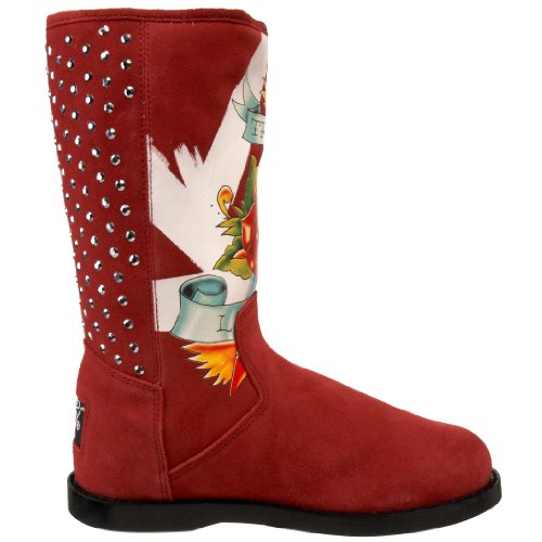 Ed Hardy Bootstrap Boot Bourgogne-10fbs104w