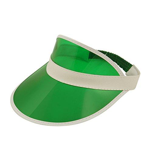 Clear Green Plastic Dealer Visor Hat (Transparent Hat Plastic)