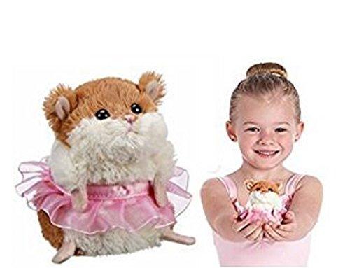 Li'l Ballerina White and Brown Hamster Plush - By Ganz by Ganz White Hamster