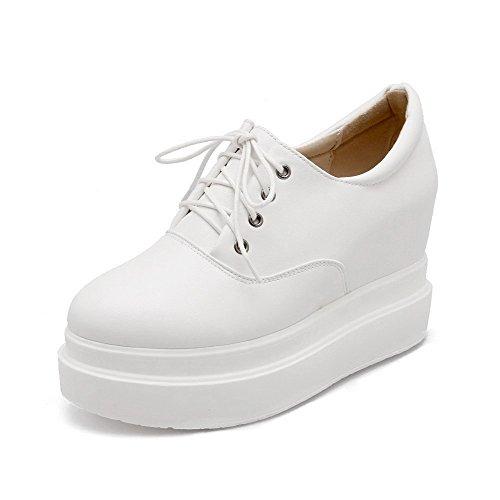 Solidi Weipoot Delle talloni Molle shoes Lacci Chiusa Punta Donne Pompe Bianco Materiale Alto Rotonda AxqaAIwrY
