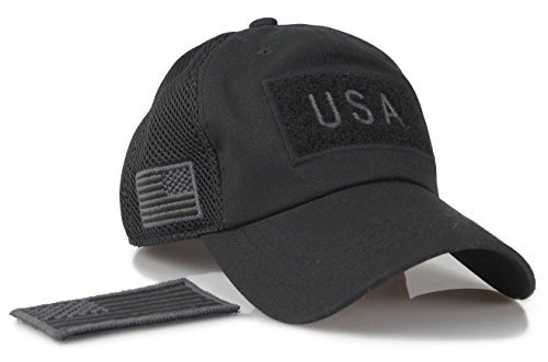 b6282e1ffac Camouflage Constructed Trucker Special Tactical Operator Forces USA Flag  Patch Baseball Cap