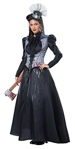 California Costumes Women's Lizzie Borden/Axe Murderess, Black/Gray, Medium -