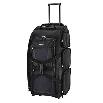Travelers Club Luggage Adventure 30 Inch Rolling Multi-Pocket Upright Duffel Bag, Black, One Size