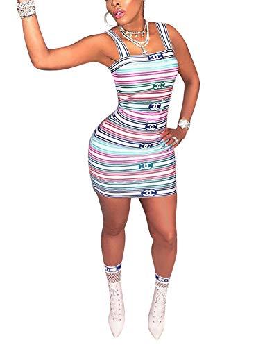 Women Spaghetti Strap Dress - Sexy Summer Tube...