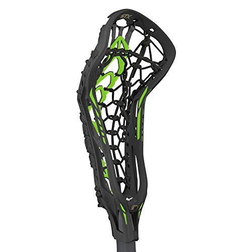 (STX Lacrosse Crux 600 Women's Complete Stick with Launch II Pocket, Black/Lizard)