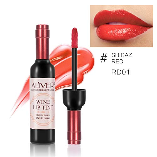 6 set Wine Bottle Lip gloss Tint Water Proof Lipstick Tint, Long Lasting Kiss proof, Non-stick Cup Lipstick Gloss by ELAIMEI (Image #4)