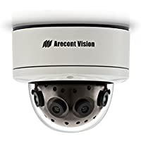 Arecont Vision AV12186DN | 12 Megapixel 180degrees WDR Panoramic IP Camera, 5.2 fps, Day/Night, 5.4mm f/2.0 IR Lens, IP66, IK-10 Vandal Resistant Dome