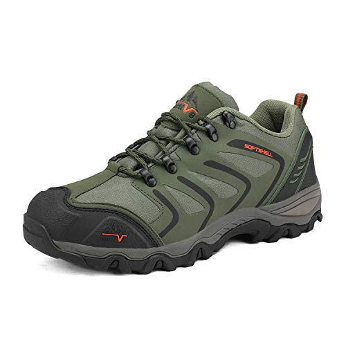 NORTIV 8 Men's Low Top Waterproof Hiking Shoes Outdoor Lightweight Trekking Trails
