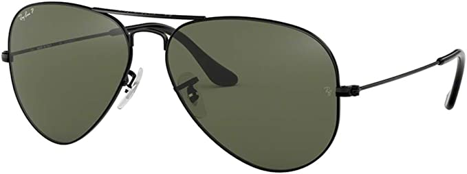 Ray Ban Rb3025 Lentes De Sol Polarizados Diseño De Aviador Clásico Negro 58 Mm Clothing
