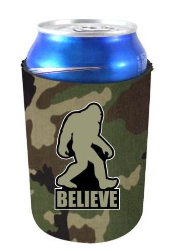 Coolie Junction Bigfoot Believe Funny Can Coolie Camo