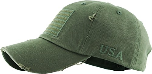 fc7f19ad8b6 KBETHOS Tactical Operator Collection with USA Flag Patch US Army Military  Cap Fashion Trucker Twill Mesh