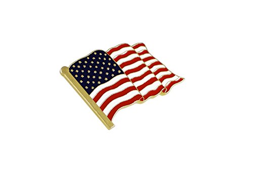State Design Lapel Pin - Forge American Flag Lapel Pin Proudly Made in USA (1 Piece)