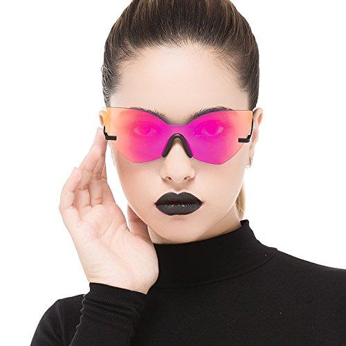 Black De Moda Sol Oro Mujer Sol Estilo Bastidor Rosa Gafas Espejo Eye De De Cat Mujer Red Gafas TIANLIANG04 wpTqY4Xq