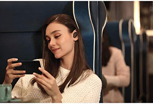 Sony WF-1000XM3 Truly Wireless Earbuds Headphones with Industry-Leading Noise Cancellation - Black WF-1000XM3/B with Charging Case Bundle Including Deco Gear Power Bank Charger + Headphone Cloth