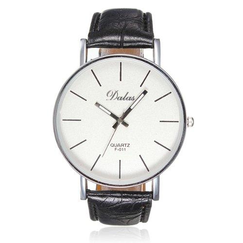 KD Bargains Dalas Moda estilo sencillo Piel Quartz Reloj De Muñeca: Amazon.es: Relojes