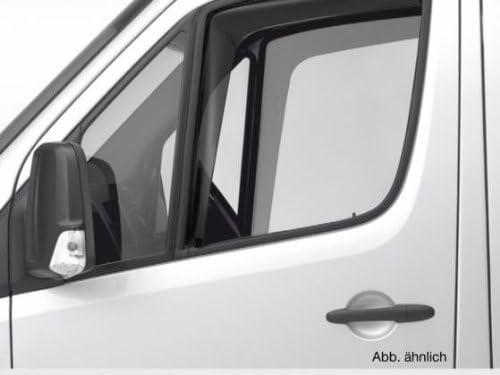 ClimAir CL 46066D Windabweiser Schwarz passend f/ür Mercedes Sprinter 2005-2017 Volkswagen Crafter 2006-2017